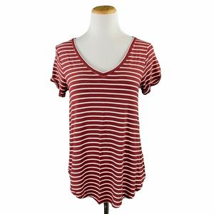 American Eagle Soft & Sexy T Striped V-Neck Tee